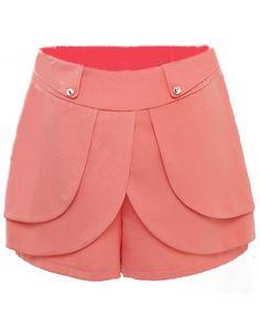 Shorts volantes cintura alta-Naranja EUR16.37