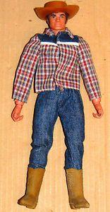 Vintage 70'S BIG JIM Mattel Wild West Cowboy Last Issue Doll Action Figure Loose | eBay