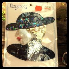 1920s Flapper Sequin Sew or Glue On Patch so many funky things you can do w this! sew it onto a shirt or skirt or bag, glue it onto your laptop case or turn into into framed art - get creative!! measures 6 inches x 6 inches Vintage Other