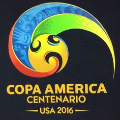 Copa-America-Centenario-USA-2016-T-Shirt-XL-Mens-Official-100-Cotton-Navy-Blue