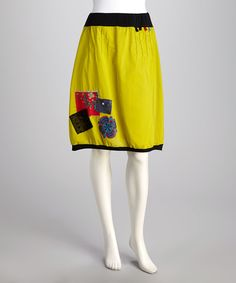Look at this Coline USA Lime Green Patch Skirt - Women on #zulily today!