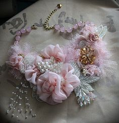 PINK LADY Mixed Media One of a Kind Wearable Art ♥ by carlafoxdesign, $225.00