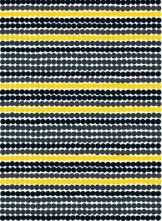 Räsymatto fabric (white, grey, black,yellow) | Fabrics, Cottons | Marimekko