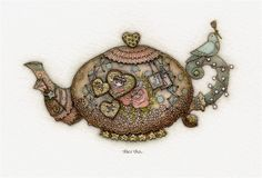 Teapot 1 by Tracy Paul - amazing!