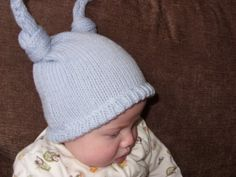 Baby Blue Handknit Topknot Hat-Baby by elisabeth76 on Etsy (Accessories, Hats & Caps, baby hat, knitted hat, merino wool, baby blue handknit, baby headgear, newborn size, ready to ship, pale blue, shower gift, topknot hat, handknit baby hat, handmade headgear, baby knit hat)