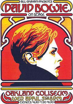 David Bowie vintage repro concert poster, USA   eBay