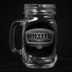 Wedding Mason Jar Mugs, Groomsmen Gift Ideas, Engraved Favors, SET OF 8. Groomsmen mason jars are a great personalized best man and groomsmen gift idea. Engraved Mason Jar Mugs are an excellent wedding favor, wedding gift or something special for your bridal party attendants and while we list these as a cool groomsman gift, they're great gifts for the bridesmaids as well. Personalized mason jars are an enjoyable way to serve up your mixed drinks, draft beer, iced tea, soda and more at…