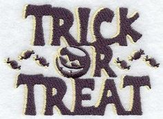 Trick or Treat Embroidered Flour Sack / Hand / Bath Towel  / Apron by misty1718 on Etsy