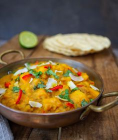 Healthy Vegan Gluten Free Butternut Squash & Coconut Dhal. This dhal is absolutely delicious, so simple to make and only costs roughly £1.50 per portion!