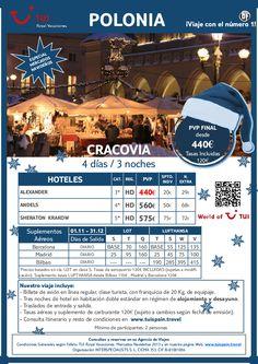 ¡Epecial mercados navideños! estancia en CRACOVIA. Precio final desde 440€ - http://zocotours.com/epecial-mercados-navidenos-estancia-en-cracovia-precio-final-desde-440e/