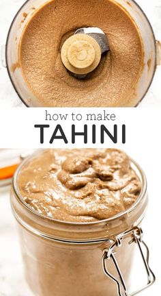 food processor recipes How to make Homemade Tahini! This recipe is super quick and easy. It uses just 1 ingredient with no oil, is made in the food processor, and tastes amazing! So nice and creamy. Add this to dressings, sauces or even baking. Side Recipes, Whole Food Recipes, Vegan Recipes, Cooking Recipes, How To Make Tahini, Homemade Tahini, Homemade Hummus Recipe, Yummy Food, Tasty
