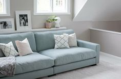 Most beautiful couch colour. Blue