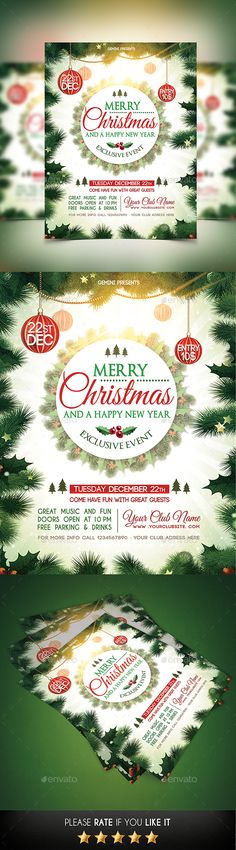 Christmas Party Flyer Template PSD #design #xmas Download: http://graphicriver.net/item/christmas-party-flyer/13552635?ref=ksioks