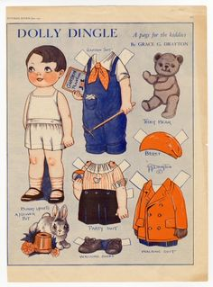 dollie dingle paper dolls | All artifact images, interpretive information, and website text