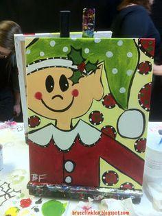My Sips n Strokes elf painting!