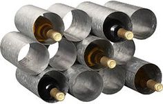 """Galvanized Wine Rack made of welded sheet metal. Would look awesome as a """"wall"""" behind a bar, right? (via uncrate.com)"""