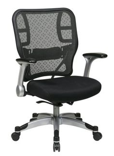 Office Star Professional Air Grid Deluxe Task Chair professional air grid back chair w/bonded leather seat | space
