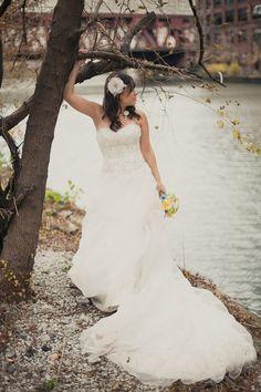Before Trash the Dress. wedding photo
