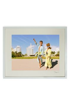 """Hand-signed Barbie and Ken Morning Stroll Framed Print - 17"""" W x 21"""" L x 1.5"""" D by Barbie and Ken Hand-signed Art on @HauteLook"""