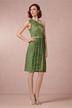 Moss Green Lace Dress - potential bridesmaid dress for Emily's wedding? Affordable Bridesmaid Dresses, Green Bridesmaid Dresses, Wedding Dresses, Green Lace Dresses, Dresses With Sleeves, Formal Dresses, Ariel Dress, Dress Up, Lace Bridesmaids