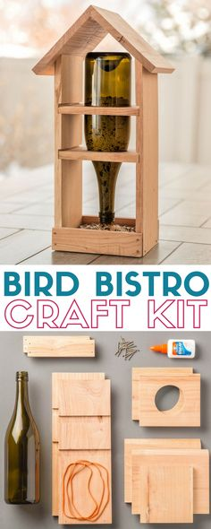 Bird Bistro | Apostrophe S Craft Kit | Bird Feeder | Wooden | Bird Seed | DIY | Easy