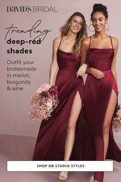 Browse David's Bridal collection of DB Studio bridesmaid dresses in all the latest styles and hottest colors. Wedding Goals, Dream Wedding, Wedding Day, Wedding Reception, Wedding Bridesmaid Dresses, Prom Dresses, Christmas Bridesmaid Dresses, Burgundy Bridesmaid Dresses, Bridal Party Dresses