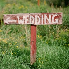 Barn wood wedding signs