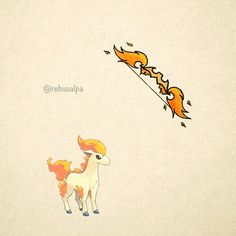 No. 077 - Ponyta. #pokemon #ponyta #bow #pokeapon