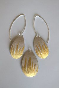 Keum-boo Pendant & Earring Class by Kelly Allanson learn this technique with Kelly at Workingsilver www.kellyallonson.com
