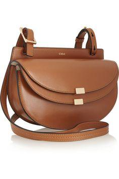 Chloé | Georgia mini leather shoulder bag | NET-A-PORTER.COM