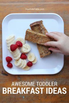 Amazing toddler breakfast ideas that are easy and healthy. Take the stress out of your morning and get peace of mind with more than 15 ideas that your toddler will gobble up. Toddler Meals, Kids Meals, Toddler Food, Baby Meals, Toddler Recipes, Healthy Toddler Breakfast, Breakfast Ideas For Toddlers, Kid Breakfast, Baby Food Recipes