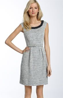 Ocean City Jacquard Josie Dress by Kate Spade: With glossy beads along the scoop neck and a flattering retro sheath shape.