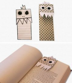 Bookmarks - Crafting For Ideas Bookmark Craft, Diy Bookmarks, How To Make Bookmarks, Diy Marque Page, Diy For Kids, Crafts For Kids, Diy Paper, Paper Crafts, Easy Crafts