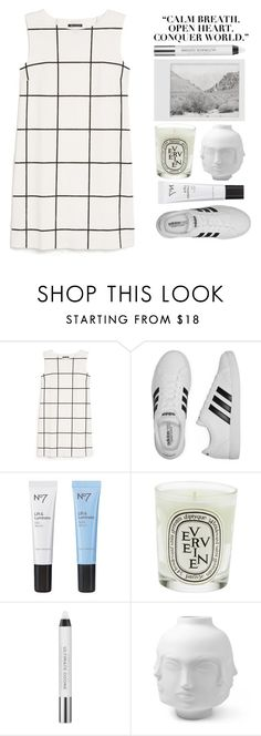 """""""► alina"""" by amxnduhh ❤ liked on Polyvore featuring MANGO, adidas, Polaroid, Boots No7, Diptyque, Urban Decay and Jonathan Adler"""
