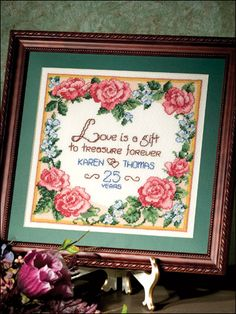 Cross-Stitch - Home Decor - Fruit & Florals - Love Is a Gift - #FX00173  I think i may make this for me