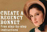 How to Make a Regency Era Bonnet - Jane Austen Centre … Regency Dress, Regency Era, Historical Costume, Historical Clothing, Jane Austen, Costume Patterns, Sewing Patterns, Viktorianischer Steampunk, 1800s Fashion