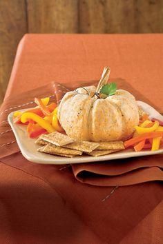 The Great White Pumpkin Cheese Ball