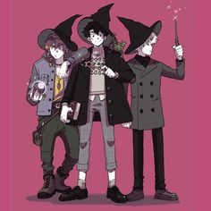 Very cute witchy boys Comic Anime, Anime Art, Character Concept, Character Art, Concept Art, Art Sketches, Art Drawings, Witch Drawing, Witch Characters