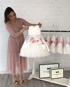 Only a few left in stock ivory rosalina dress 💕 in stock and ready to ship 📦 order here 👉🏼 www ittybittytoes com worldwide delivery ✈️ittybittytoes Pink Flower Girl Dresses, Little Girl Dresses, Dress Anak, Baby Dress Design, Kids Gown, Baby Dress Patterns, Kids Frocks, Toddler Dress, Kids Outfits