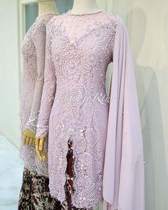 Kebaya Hijab, Kebaya Dress, Kebaya Muslim, Kebaya Moden, Brokat, Hijabs, Women's Fashion, Fashion Design, Bridesmaid Dresses
