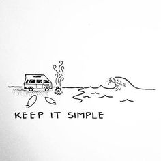 Keep it simple travel quotes to live · inspirational drawing motivation. Doodle Drawings, Easy Drawings, Doodle Art, Simple Doodles Drawings, Summer Drawings, Keep It Simple, Simple Art, Drawing Lessons, Surf Art