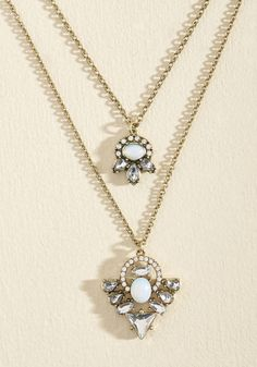 Indie Pendants Day Necklace. Every time you rock this antiqued gold necklace, we're tempted to declare it a dazzling holiday! #white #wedding #modcloth