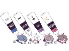 Tweet phương tiện bởi しろかわ (@sirokawa_) | Twitter Anime Chibi, Kawaii Anime, Anime Art, Chibi Couple, Anime Love Couple, Cute Anime Boy, Anime Guys, Vocaloid, Chibi Food