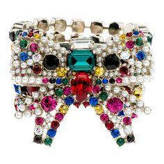 Miu Miu - Bracelet with Swarovski© stones and pearls - $495.00