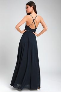 ffe8a435aa5 Grand Soiree Navy Blue Sleeveless Maxi Dress 4 Junior Prom Dresses