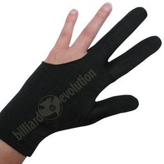 Billiard Cue Glove-Extra Large by Billiard Evolution. $6.79. Wearing our three-finger billiard glove will give you a smoother stroke and eliminate the need for messy hand chalk.  The black glove is made of stretchy Lycra that's double-stitched with elastic at the wrist for a good fit.  Wear it on your right or left hand; fits both men and women.  Extra large size; small, medium, large and extra extra large sizes are also available and are sold separately.