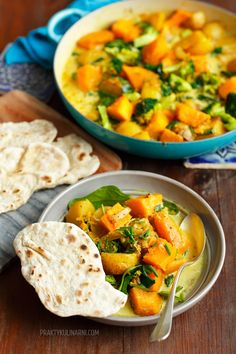 Warzywne curry Veg Recipes, Kitchen Recipes, Vegetarian Recipes, Cooking Recipes, Healthy Recipes, Healthy Dishes, Healthy Snacks, Healthy Eating, Food Allergies