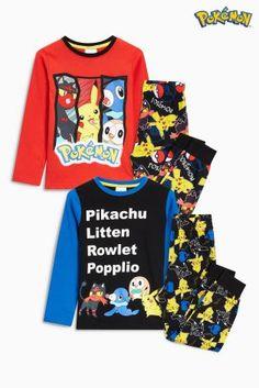 Blue Pokémon™ Pyjamas Two Pack (3-12yrs)