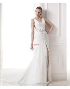 Sweep / Pinsel Zug Hochzeitskleider mit Schal Reißverschluss Brautkleider 2015
