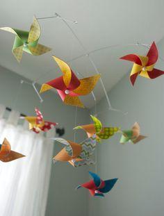 Crib Mobile / Nursery Mobile / Baby Boy or Girl / Gender Neutral / Rainbow Red, Yellow, Green, Orange and Blue: Zippity Do Da
